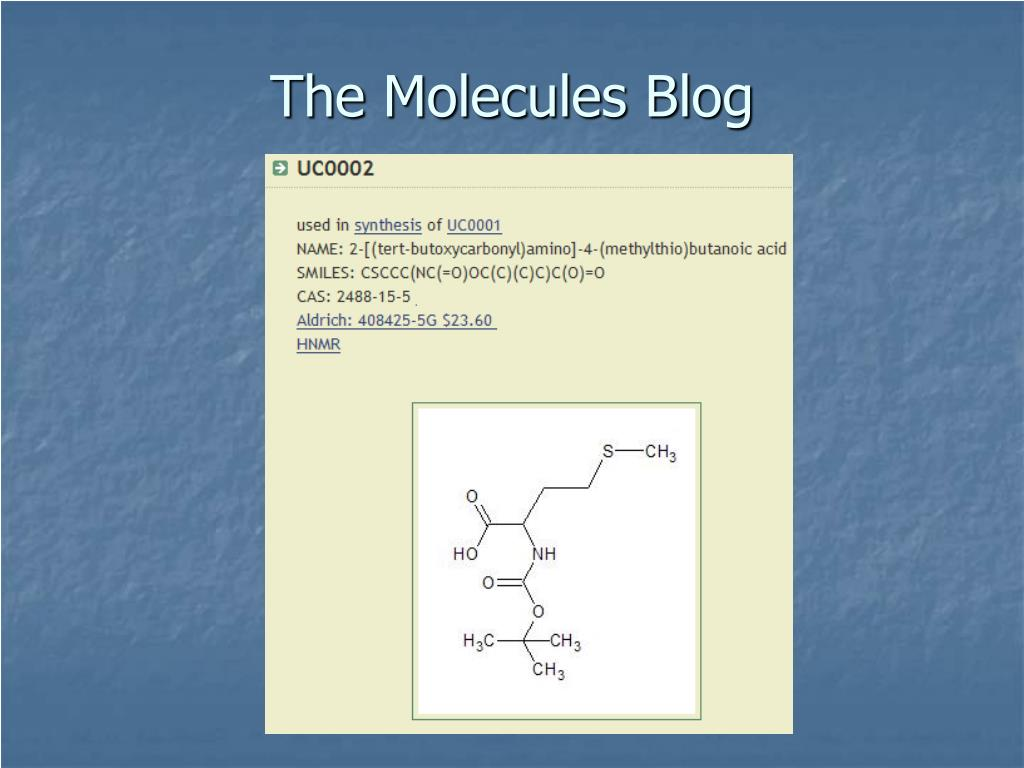 The Molecules Blog