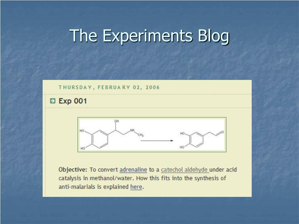 The Experiments Blog