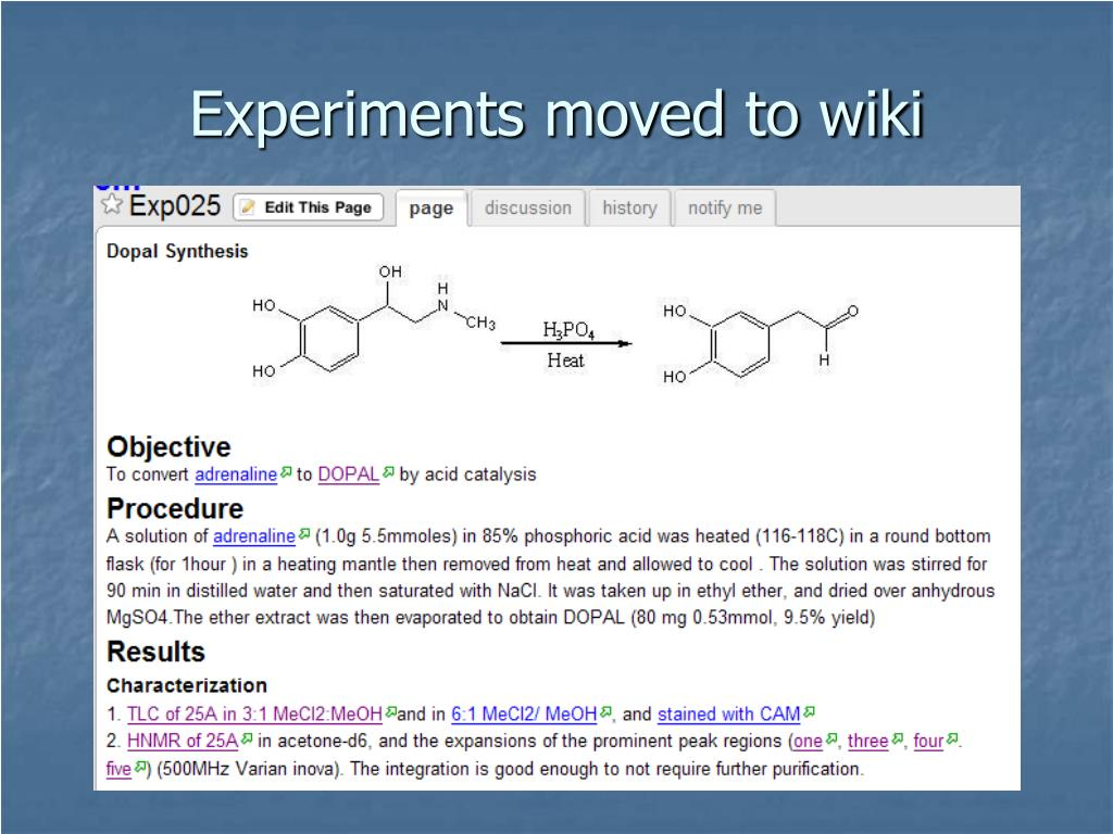 Experiments moved to wiki