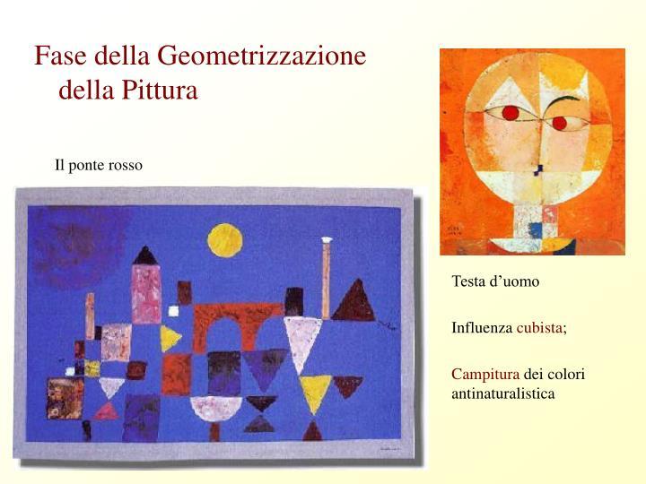 Fase della Geometrizzazione della Pittura