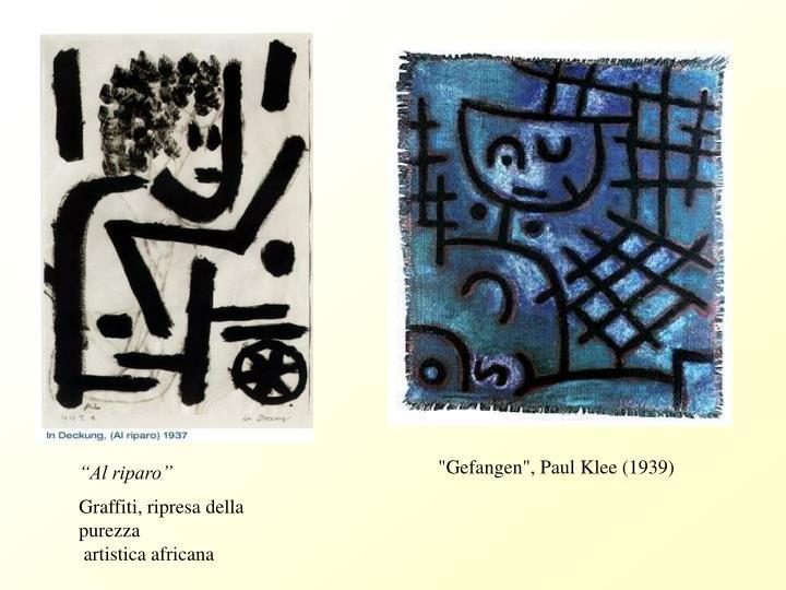 """""""Gefangen"""", Paul Klee (1939)"""