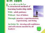 4 h teen leadership