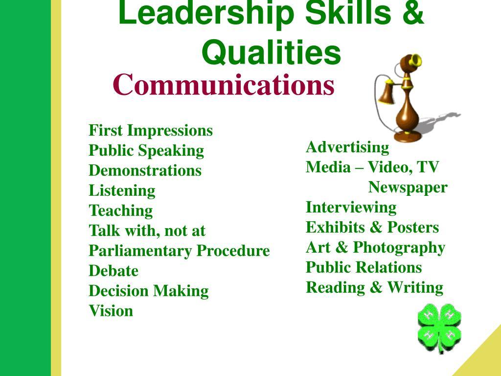 Leadership Skills & Qualities
