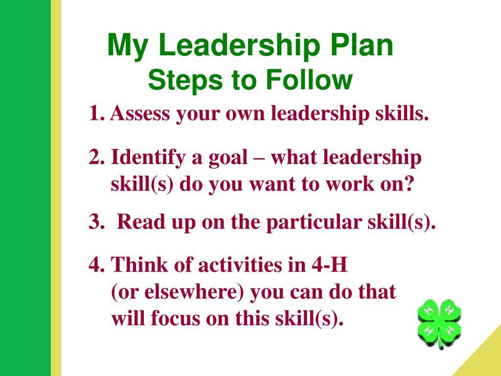 My Leadership Plan