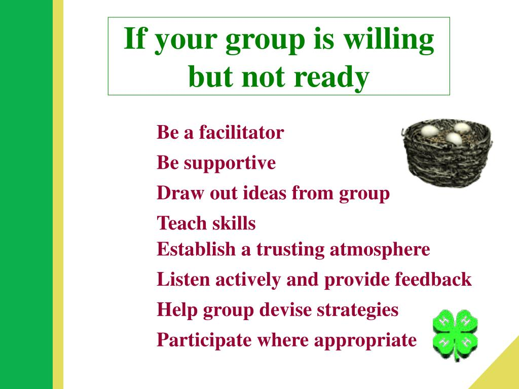 If your group is willing