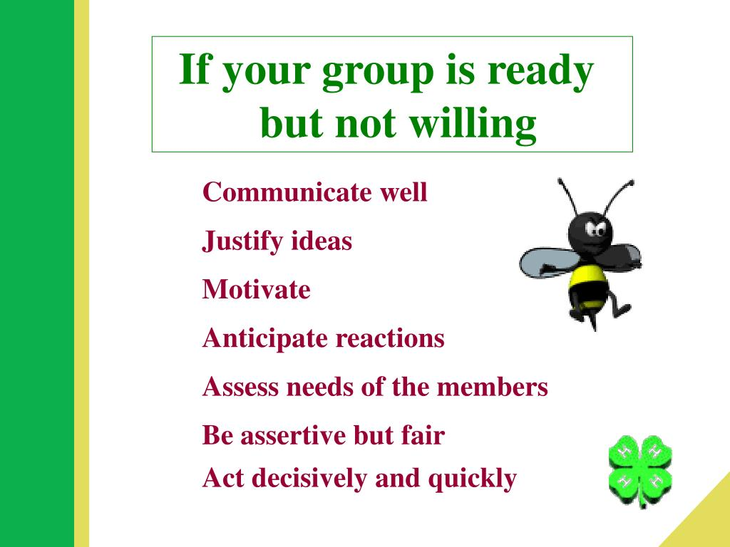 If your group is ready