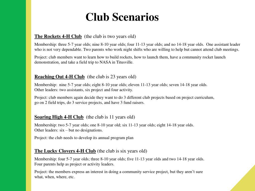 Club Scenarios