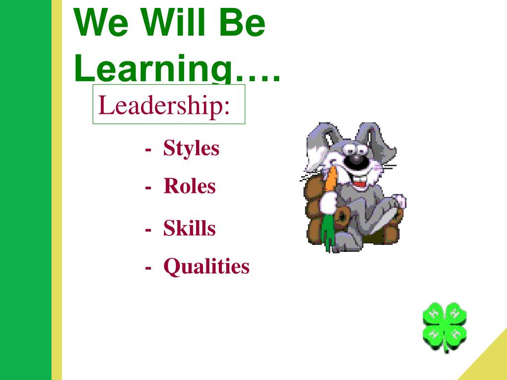We Will Be Learning….