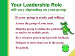 your leadership role