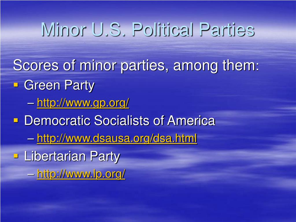 Minor U.S. Political Parties