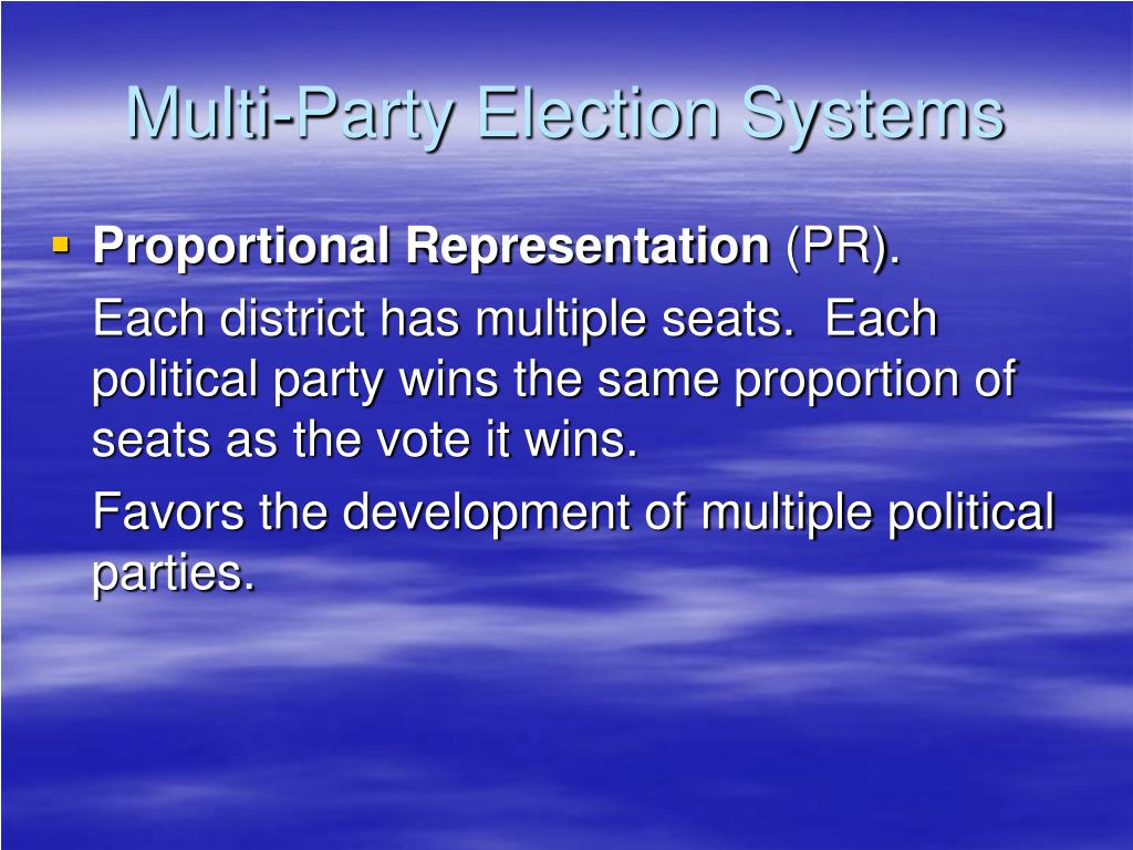 Multi-Party Election Systems
