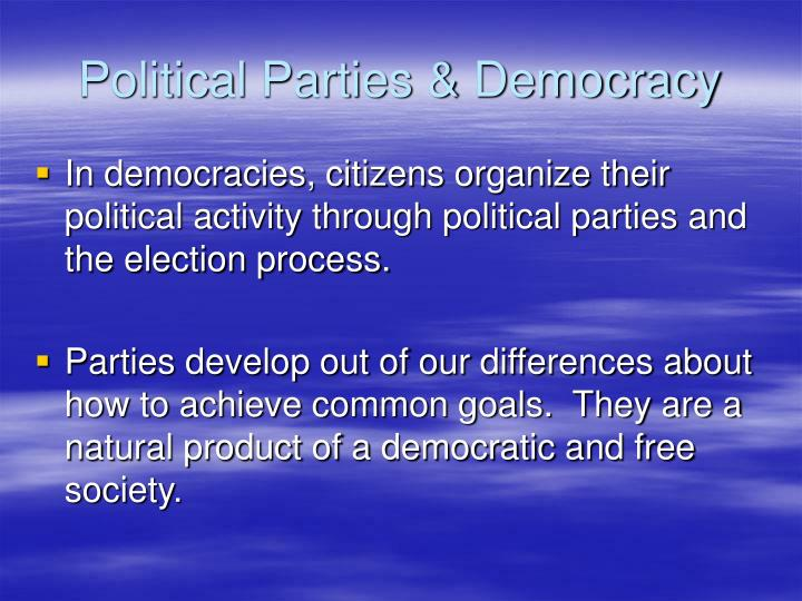 Political parties democracy