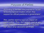 purpose of parties