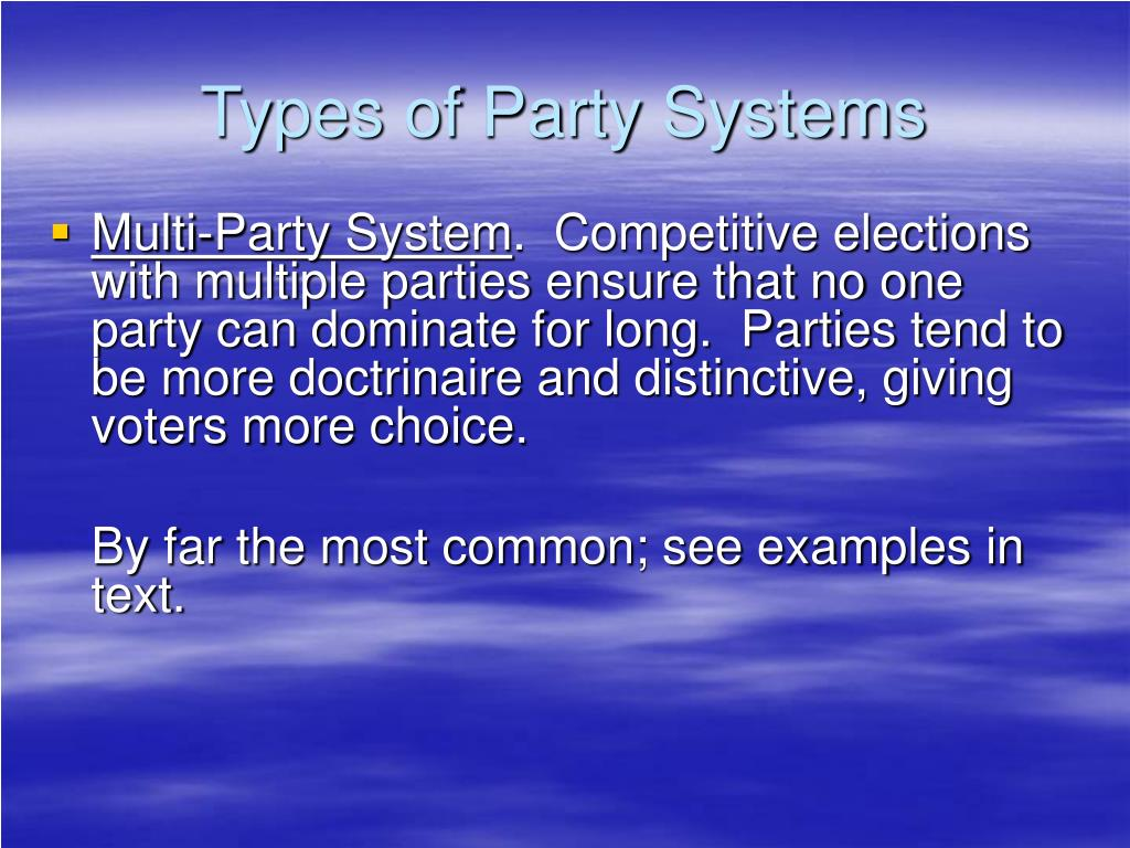 Types of Party Systems