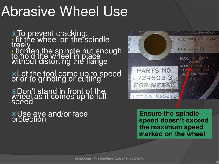 Abrasive Wheel Use