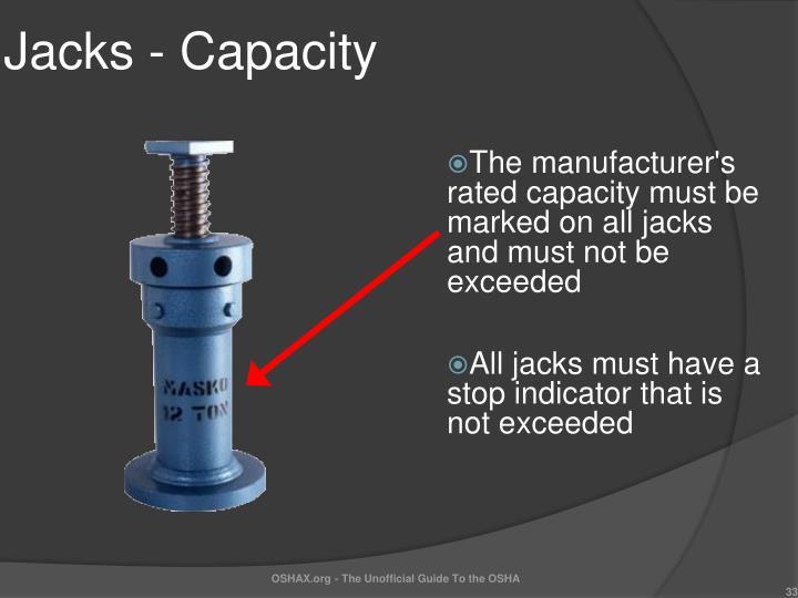 Jacks - Capacity