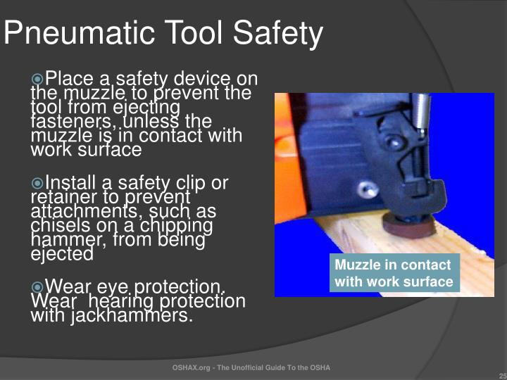Pneumatic Tool Safety