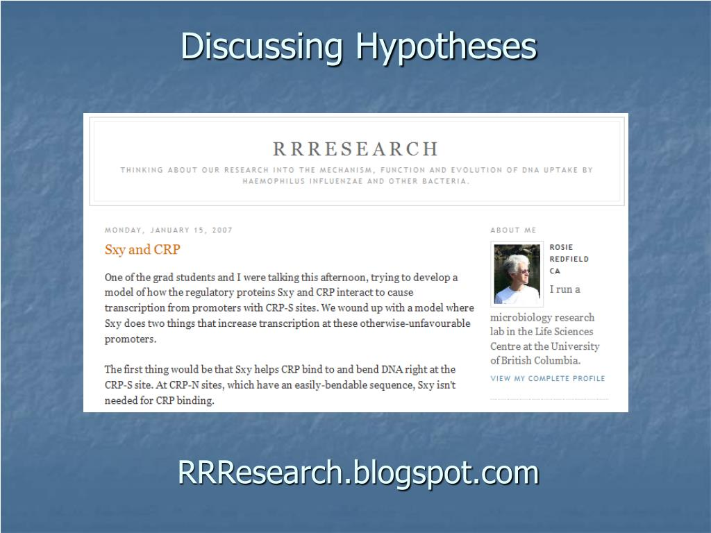 Discussing Hypotheses