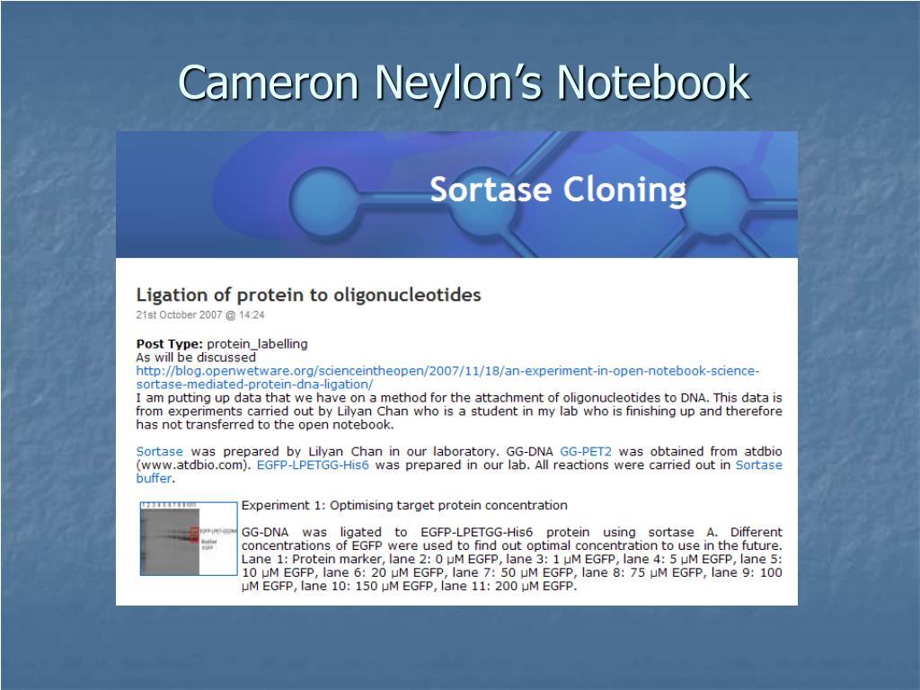 Cameron Neylon's Notebook