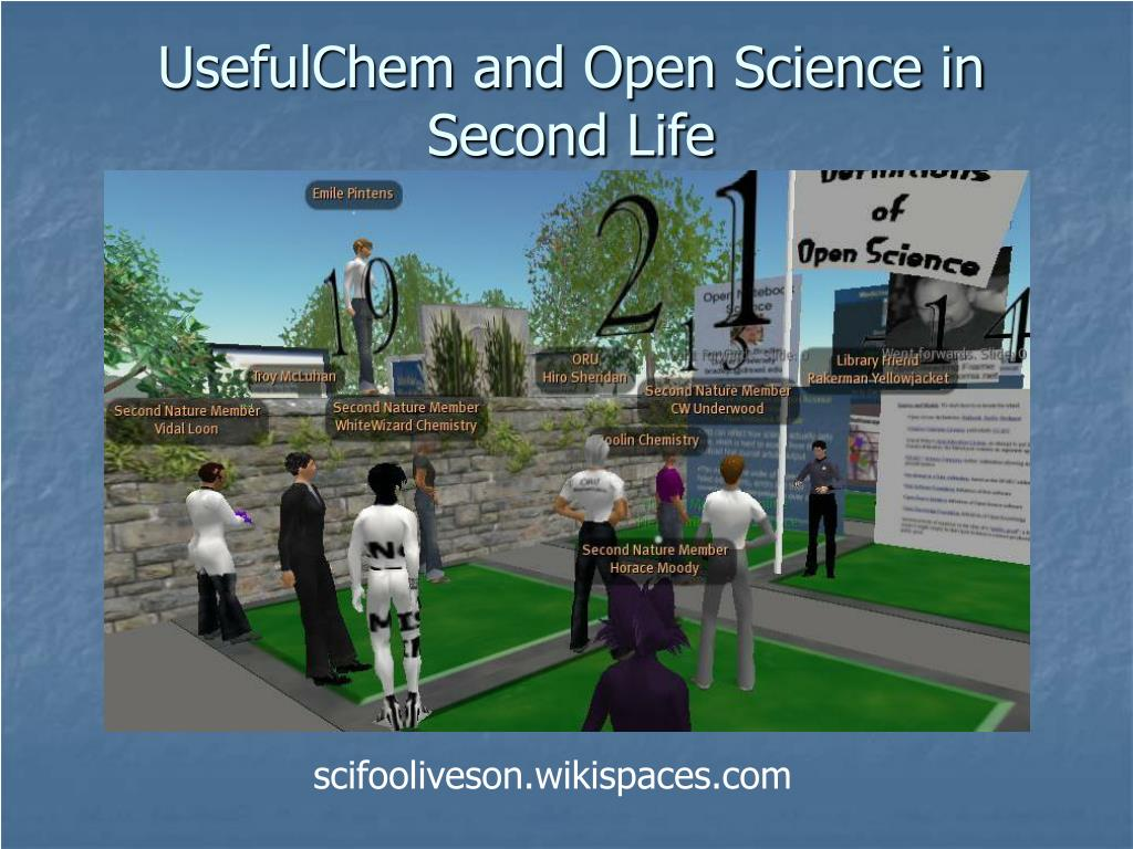 UsefulChem and Open Science in Second Life