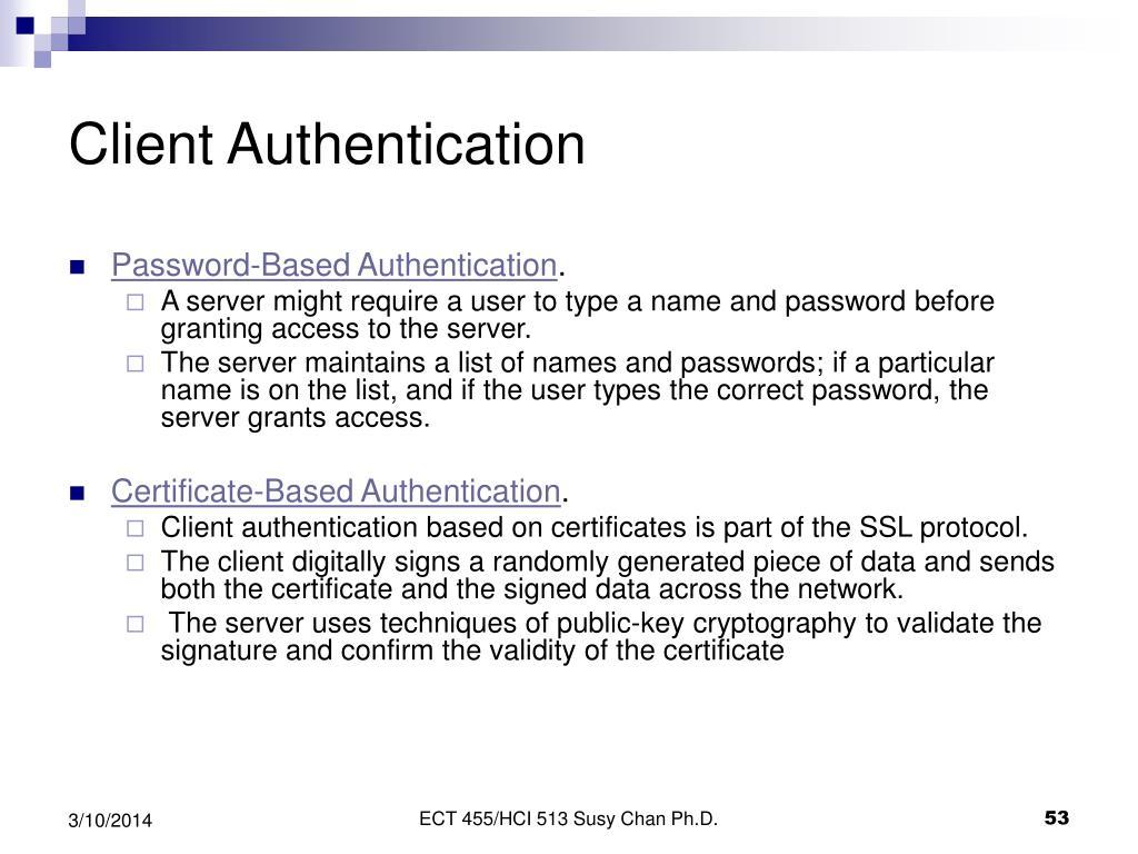 Client Authentication