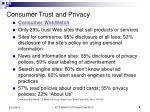 consumer trust and privacy