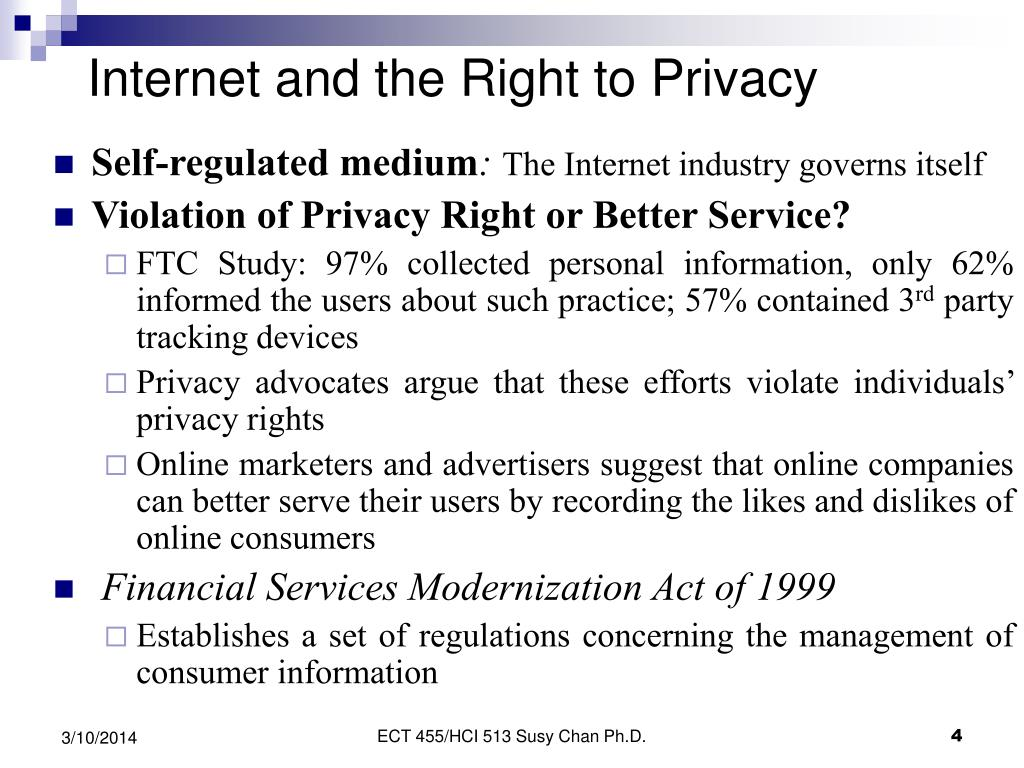 Internet and the Right to Privacy