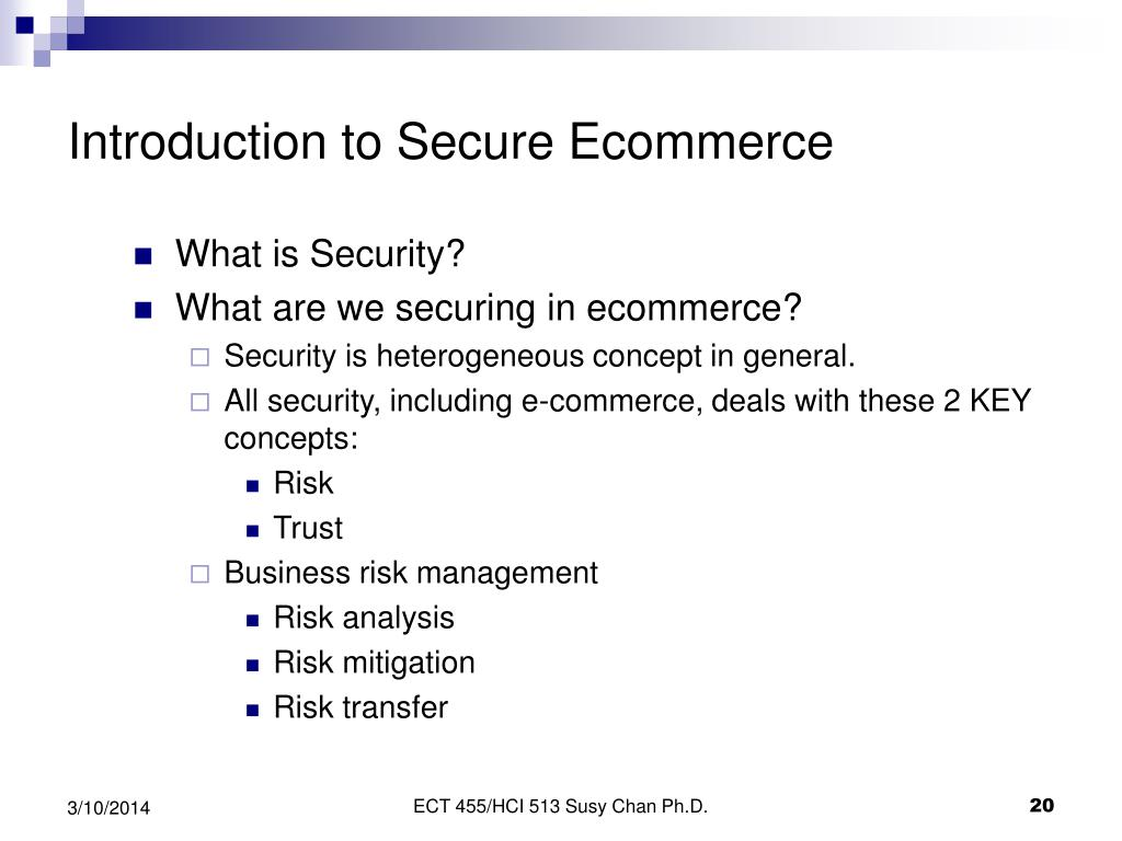 Introduction to Secure Ecommerce