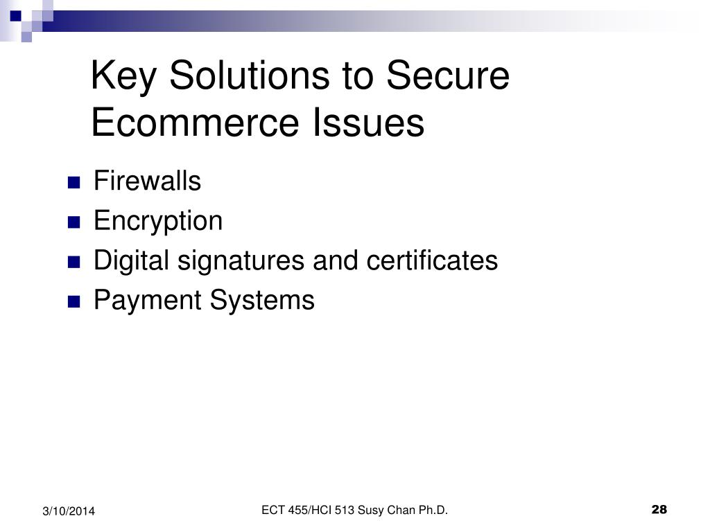 Key Solutions to Secure Ecommerce Issues