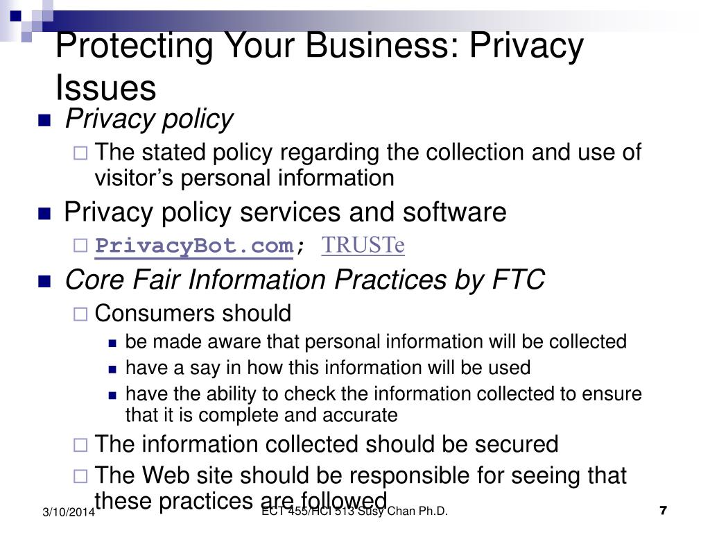 Protecting Your Business: Privacy Issues