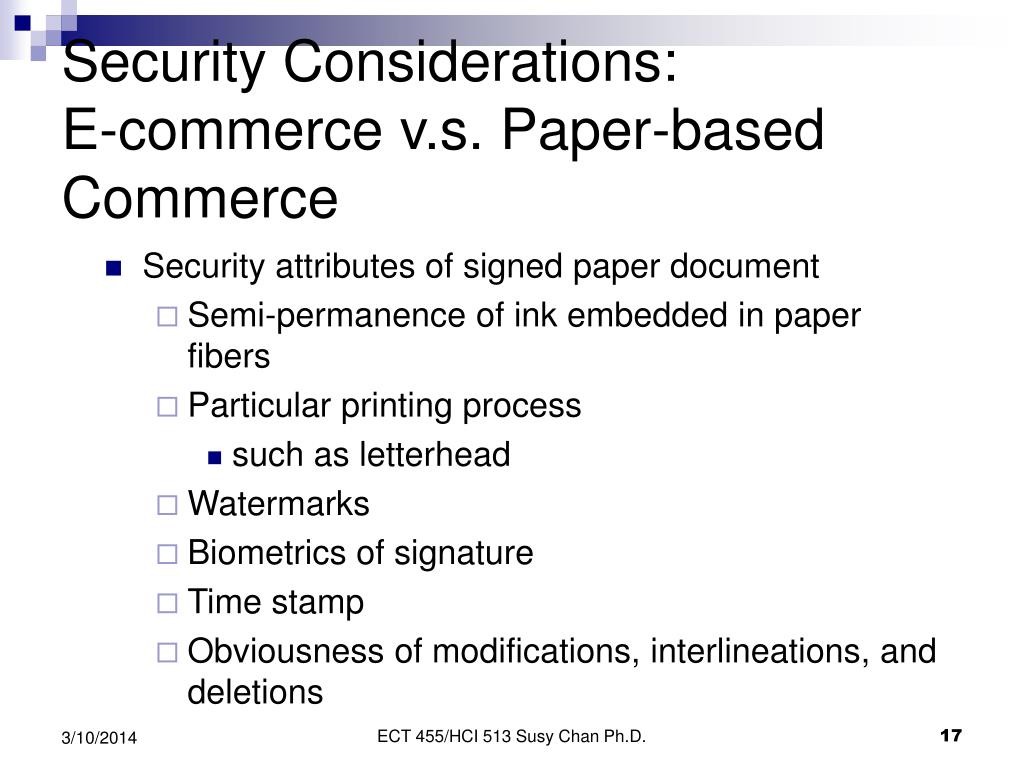 Security Considerations: