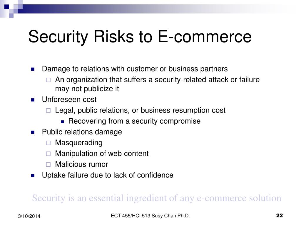 Security Risks to E-commerce