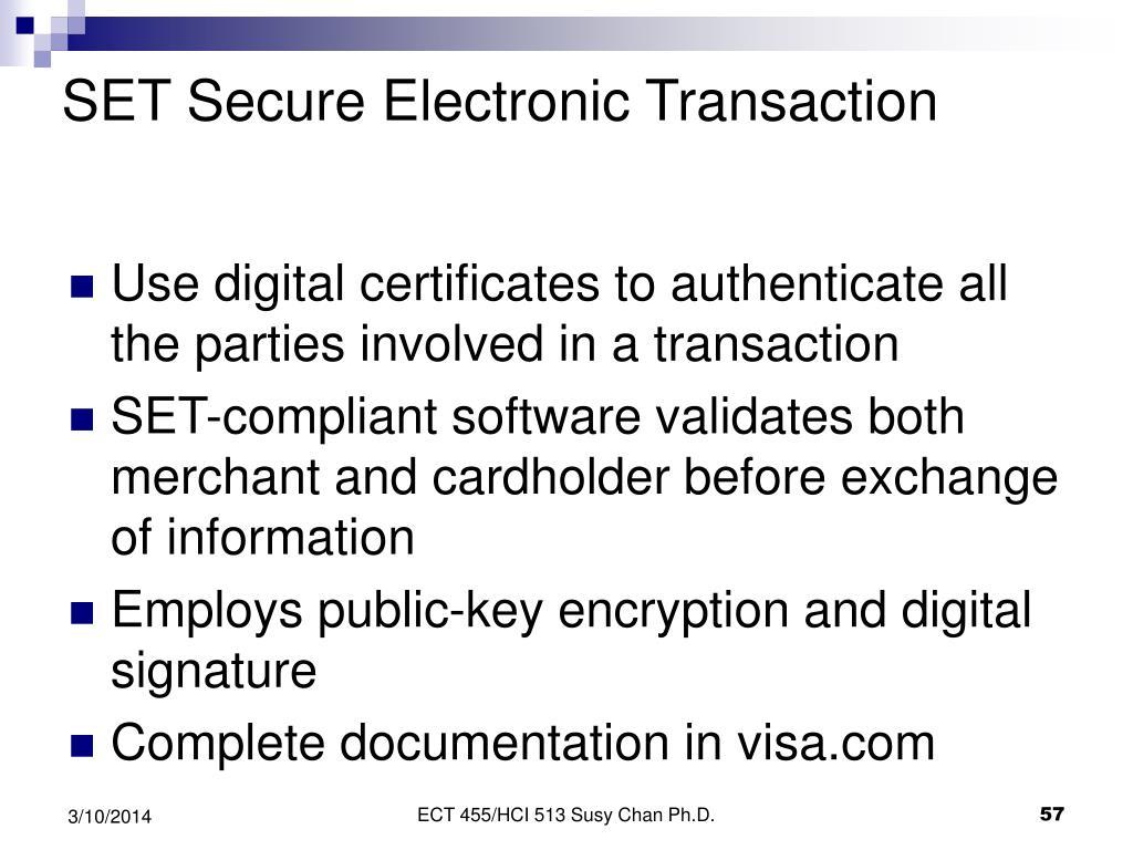 SET Secure Electronic Transaction
