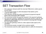 set transaction flow