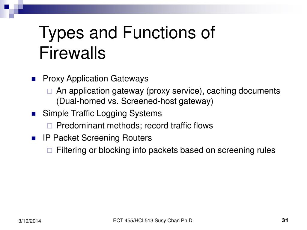 Types and Functions of Firewalls