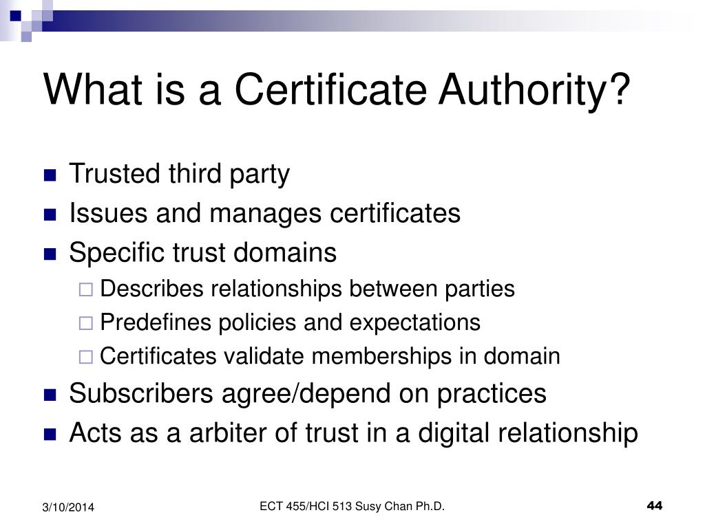 What is a Certificate Authority?