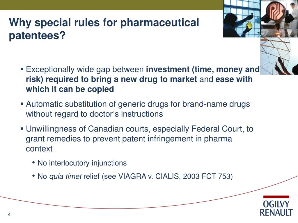 Why special rules for pharmaceutical patentees?