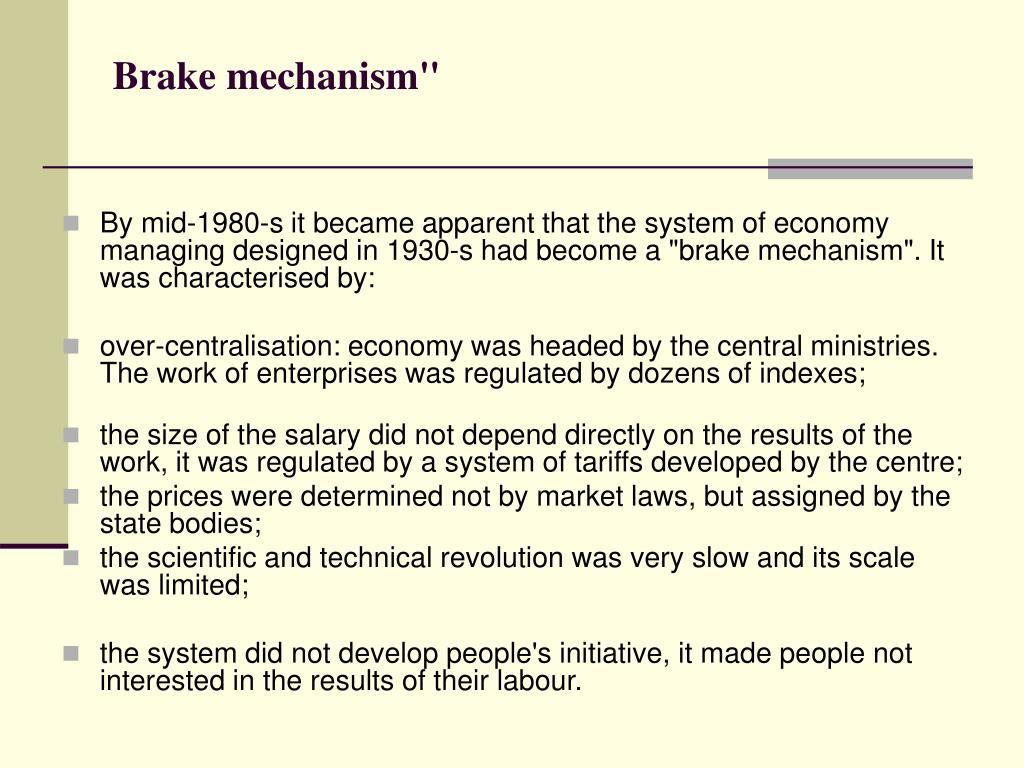 "Brake mechanism"""