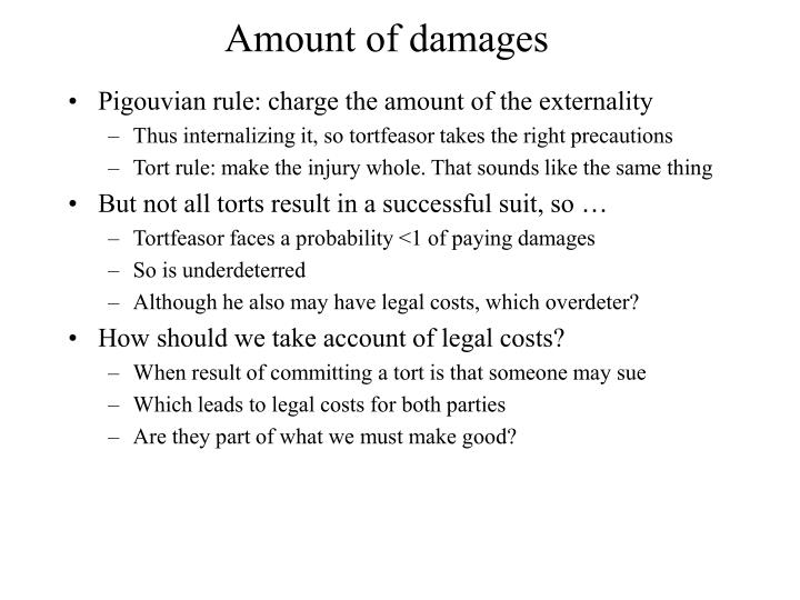 Amount of damages