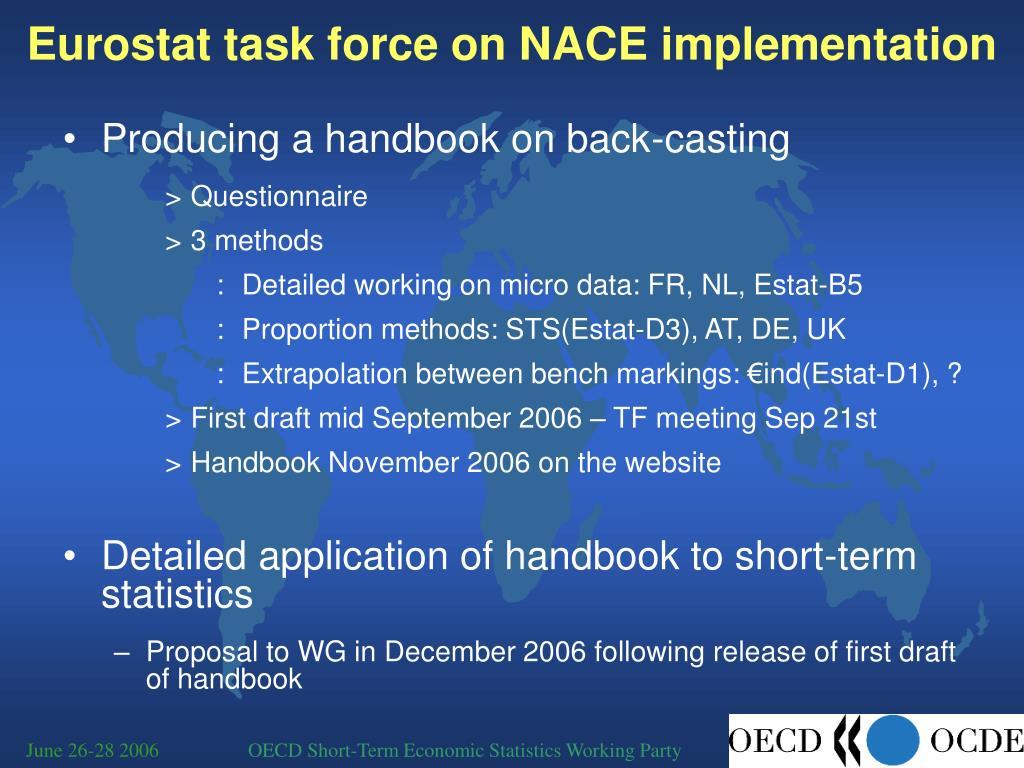Eurostat task force on NACE implementation