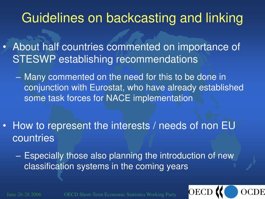 Guidelines on backcasting and linking