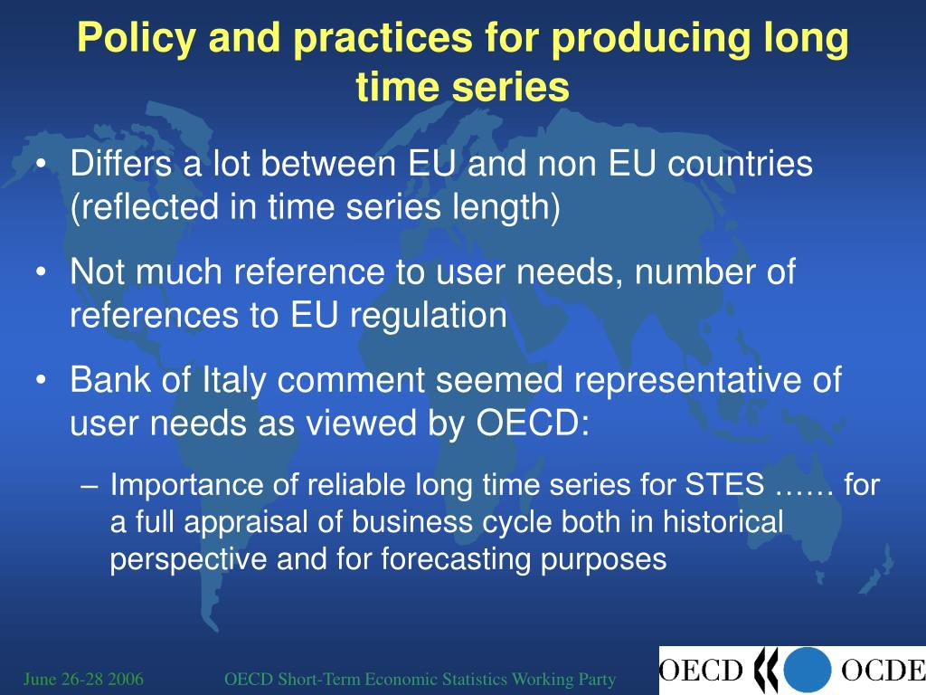 Policy and practices for producing long time series