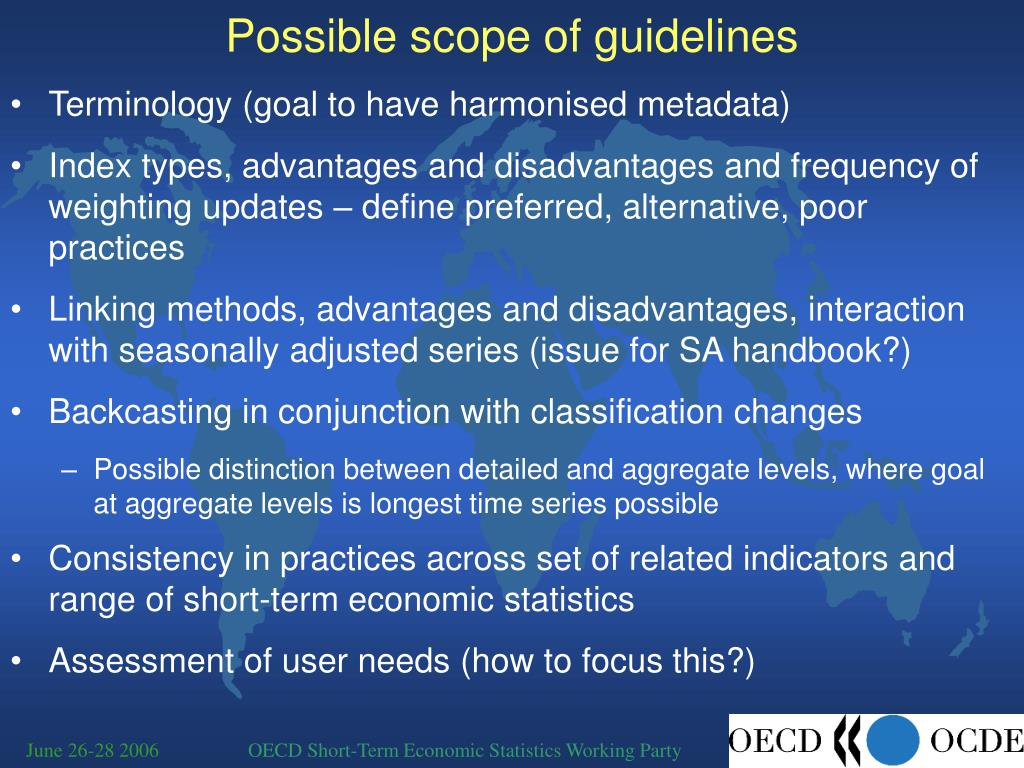 Possible scope of guidelines