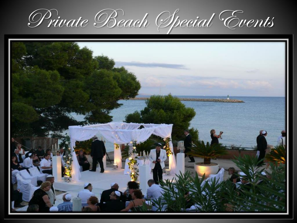 Private Beach Special Events