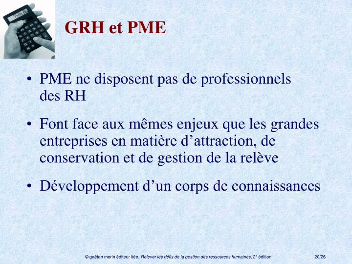 GRH et PME