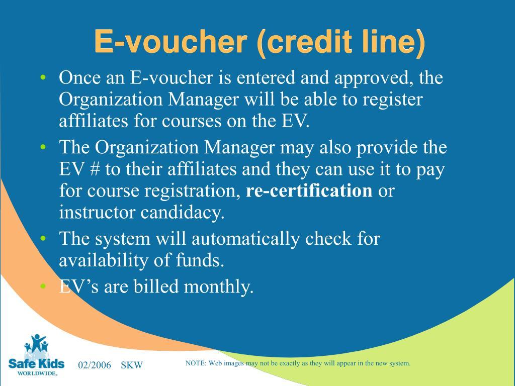 E-voucher (credit line)