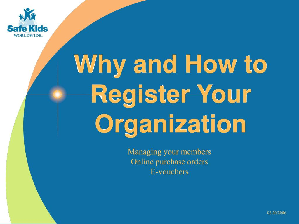 Why and How to Register Your Organization