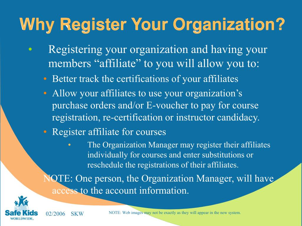 Why Register Your Organization?