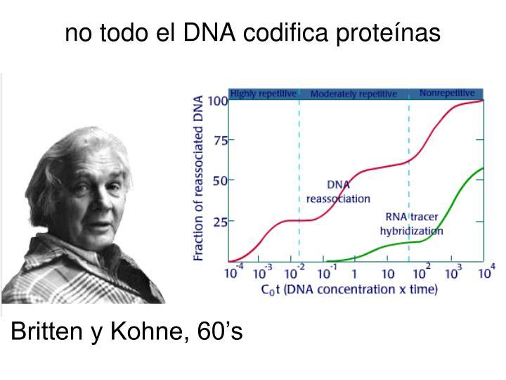 no todo el DNA codifica proteínas