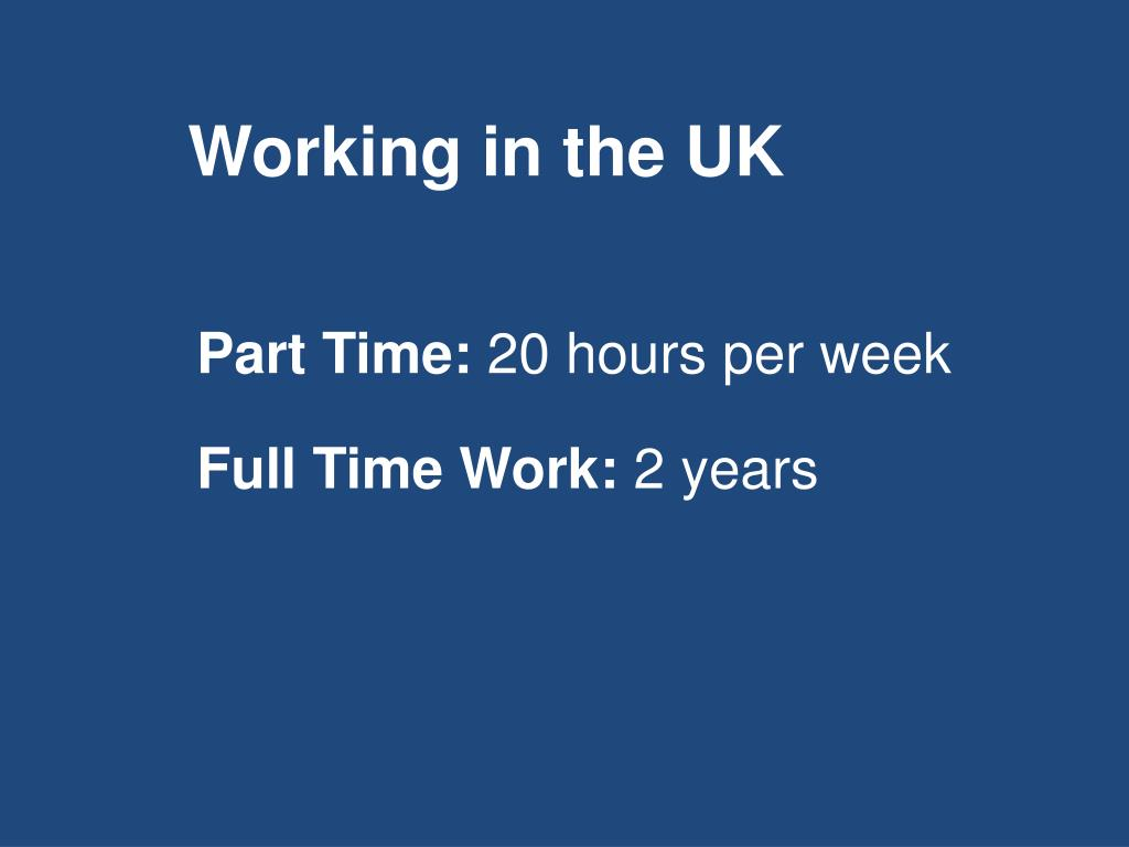 Working in the UK